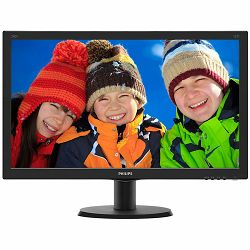 PHILIPS Monitor LED V-Line 240V5QDAB (23.8, IPS-ADS, 16.9, 1920x1080, 1000:1, 5ms, 10M:1, 250 cd/m2, VGA, DVI, HDMI, VESA) Black, 2y