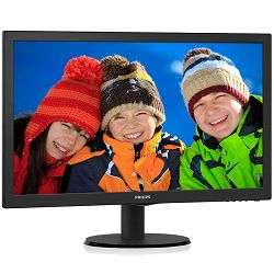 PHILIPS Monitor LED V-Line 243V5QHABA (23.6, 16:9, 1920x1080, MVA/WLED, 250 cd/m2, 10M:1, 8 ms, 178/178°, VGA, DVI-D, HDMI, audio-in, Headphone out, Speakers 2x 2W, Tilt: -5 to +20°) Black, 2y