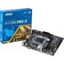 MSI MB H110M PRO-D, S.1151, iH110, DDR4/2133, PCIe, DVI, SATA3, G-LAN, USB3.0, 8ch., mATX