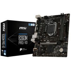 MSI MB B360M PRO-VD, S.1151, B360 DDR4/2666, PCIe, VGA/DVI-D, SATA3, G-LAN, USB3.1, 8ch., mATX