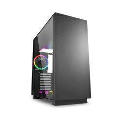 Sharkoon PURE STEEL RGB Midi Tower ATX kućište, prozirna bočna stranica, bez napajanja, crno