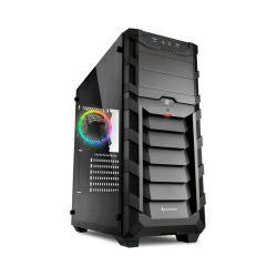 Sharkoon Skiller SGC1 RGB Midi Tower ATX kućište, prozirna bočna stranica, bez napajanja, crno