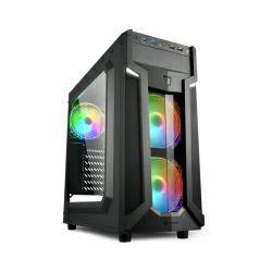 Sharkoon VG6-W RGB Midi Tower ATX kućište, bez napajanja, prozirna prednja/bočna stranica, crno