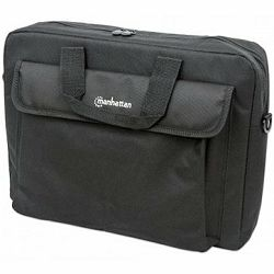 London Notebook Computer Briefcase, Top Load; Fits Most Widescreens Up To 15.6, Black