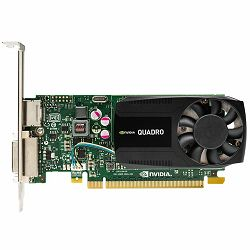 NVIDIA Video Card Quadro K620 DDR3 2GB/128bit, 384 CUDA® Cores, PCI-E 2.0 x16, DVI-I, DP, Cooler, Single Slot, Low Profile (DP-DVI-I Cable, DVI-I-VGA Adapter, Full Size and Low Profile Bracket incuded