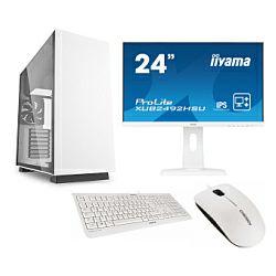 Cratos Office White MT 400W, Intel  i3-8100, 8GB DDR4, 240GB SSD, Intel UHD, FreeDos + tipkovnica/miš + 24