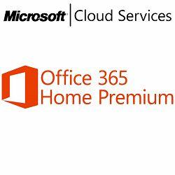 Microsoft Office 365 Home Premium 32-bit/x64 English Subscription 1 License Eurozone Medialess 1 Year
