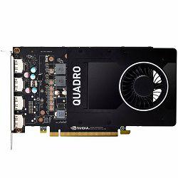 NVIDIA Video Card Quadro P2200 GDDR5X 5GB/160bit, 1280 CUDA Cores, PCI-E 3.0 x16, 4xDP, Cooler, Single Slot (DP-DVI-D Cable incuded)
