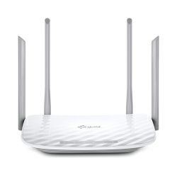 Router TP-Link AC1200 Dual-Band Wi-Fi Router,  802.11ac/a/b/g/n, 867Mbps at 5GHz + 300Mbps at 2.4GHz,, 5 10/100M Ports,1 USB 2.0 port,  2 fixed antennas, WPS,  IPv6 Ready, Tether App