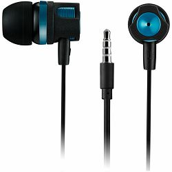 CANYON Stereo earphones with microphone, 1.2M, green