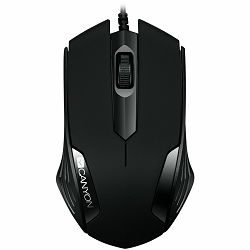 CANYON Optical wired mice, 3 buttons, DPI 1000, Black