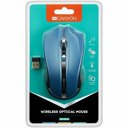 2.4Ghz wireless Optical Mouse with 4 buttons, DPI 800/1200/1600,blue