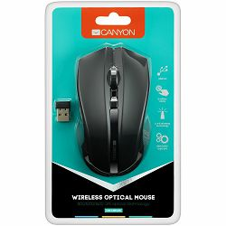 2.4GHz wireless Optical Mouse with 4 buttons,DPI 800/1200/1600, Black