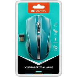 2.4Ghz wireless Optical Mouse with 4 buttons, DPI 800/1200/1600, green