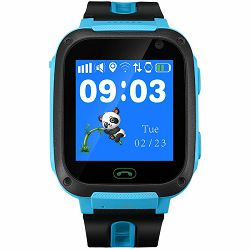 Kids smartwatch, 1.44 inch colorful screen, front camera,   SOS button, single SIM, 32+32MB, GSM(850/900/1800/1900MHz), 400mAh, compatibility with iOS and android, Blue, host: 51.6*38.5*14.5mm, strap: