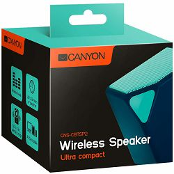 CANYON Portable Bluetooth V4.2+EDR stereo speaker with 3.5mm Aux, micro-USB port, bulit in 300mA battery