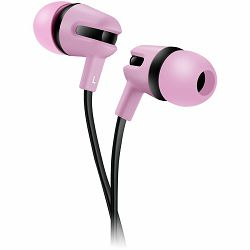CANYON Stereo earphone with microphone, 1.2m flat cable, Rose, 22*12*12mm, 0.013kg