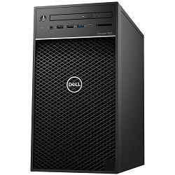 Dell Precision T3630 w/460W up to 90% efficient PSU, Intel Xeon E-2124G, 4 Core, 8MB Cache, 3.4GHz, 4.5Ghz Turbo,  8GB (1x8GB) 2666MHz DDR4 UDIMM Non-ECC, M.2 256GB PCIe NVMe, Intel UHD 630, 8x DVD+/-