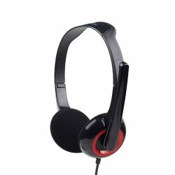 Gembird Stereo headset, glossy black
