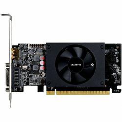 GIGABYTE Video Card NVidia GeForce GT 710 DDR5 1GB/64bit, 954MHz/5010MHz, PCI-E 2.0 x8, HDMI, DVI low profile bracketx 1, Cooler, Retail