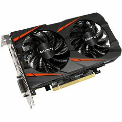 GIGABYTE Video Card AMD Radeon RX550 GAMING OC GDDR5 2GB/128bit, 1206MHz/7000MHz, PCI-E 3.0, DP, HDMI, DVI-D, WINDFORCE 2X Cooler(Double Slot), Retail