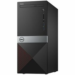 Dell Vostro Desktop 3670 w/290W PSU, Intel Core i3-8100(6MB, 3.6 GHz),  4GB(1X4GB)DDR4 2666MHz, 1TB 7200 RPM SATA 6Gb/s (64MB Cache), Intel UHD 630, DVDRW, 802.11bgn, BT 4.0, K+M, Linux, 3Y NBD