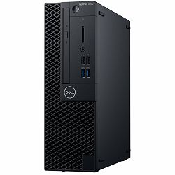 DELL OptiPlex 3070 SFF BTX w/200W up to 85% efficient PS, Intel Core i3-9100, 8GB DDR4 2666MHz, 3.5in 1TB 7200rpm SATA HDD, Intel integrated, 8x DVDRW 9.5mm, K+M, Linux, 3Y