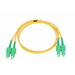 NFO Patch cord, SC APC-SC APC, Singlemode 9 125, G.652D, 3mm, Duplex, 3m