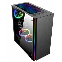 NaviaTec Gaming Case with 4 Colorful LED Fans