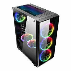 NaviaTec Gaming Case 4xLED Color Ventilators, 2x USB 2.0, 1 USB3.0