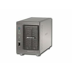 NAS NETGEAR ReadyNAS Duo (, supported 2 HDD, LAN, USB2.0, USB3.0, Power Adapter, Desktop, JBOD,Level 0,Level 1), Black