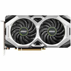 MSI Video Card NVidia GeForce RTX 2070 VENTUS GP GDDR6 8GB/256bit, 1629MHz/14000MHz, PCI-E 3.0 x16, 3xDP, HDMI, TORX 2X Cooler(Double Slot) Backplate, Retail