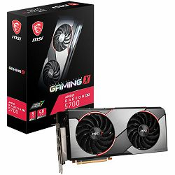MSI Video Card AMD Radeon RX 5700 GAMING X GDDR6 8GB/256bit, 1725MHz/14000MHz, PCI-E 4.0, 3xDP, HDMI, TORX 2X Cooler(Double Slot) RGB Mystic Light, Backplate, Retail