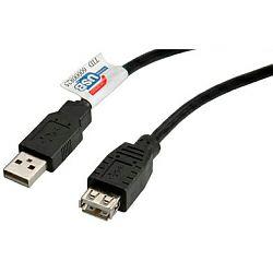 USB2.0 kabel TIP A-A M/F, 0.8m, bež (produžni)