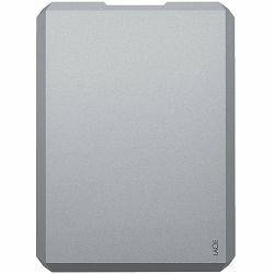 LaCie HDD External Mobile Drive (2.5/4TB/ USB 3.0/ USB-C) Moon Silver
