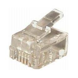 Transmedia RJ11 Plug Western 6 4-plug round