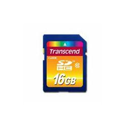 TRANSCEND Flash Card, SDHC, 16GB, Class 10