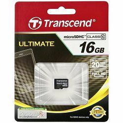 TRANSCEND Flash Card, microSDHC, 16GB, Class 10