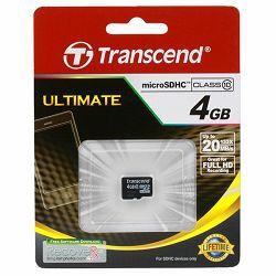 TRANSCEND Memory ( flash cards ) 4GB Micro SDHC Class 10