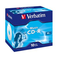 CD-R Verbatim 700MB Audio Colour LiveIt 10 pack JC