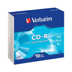 CD-R Verbatim 700MB 52× Datalife 10 pack Slimcase EP