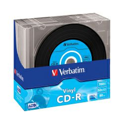CD-R Verbatim 700MB 48× Datalife Plus Vinyl Look 10 pack Slimcase