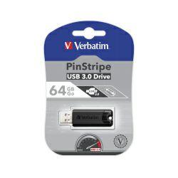 Verbatim USB3.0 StorenGo PinStripe 64GB, crni