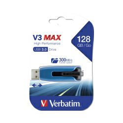 Verbatim USB3.0 StorenGo V3 128GB Max High Performance USB Drive (R/W: 400/200MB/sec)