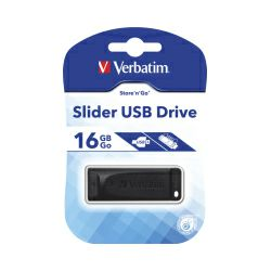 Verbatim USB2.0 StorenGo Slider 16GB, crni