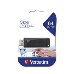 Verbatim USB2.0 StorenGo Slider 64GB, crni