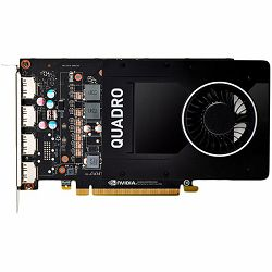 PNY NVIDIA Video Card Quadro P2000 GDDR5 5GB/160bit, 1024 CUDA Cores, PCI-E 3.0 x16, 4xDP, Cooler, Single Slot (DP-DVI-D Cable incuded), Bulk package 10 pcs in a box