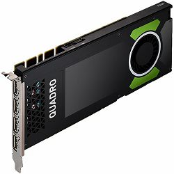 PNY NVIDIA Video Card Quadro P4000 GDDR5 8GB/256bit, 1792 CUDA Cores, PCI-E 3.0 x16, 4xDP, Cooler, Single Slot (DP-DVI-D Cable, Auxiliary power cable included) 3yr. warr. Brown Box
