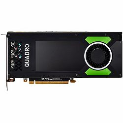 PNY NVIDIA Video Card Quadro P4000 GDDR5 8GB/256bit, 1792 CUDA Cores, PCI-E 3.0 x16, 4xDP, Cooler, Single Slot (DP-DVI-D Cable, 8 pin Power Cable, Stereo Connector Bracket included), bulk package 10 p