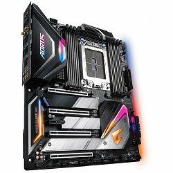 GIGABYTE Main Board Desktop AMD X399 (STR4, 8xDDR4, Realtek ALC1220, 2x Intel GbE LAN, 1x Aquantia GbE LAN, Wi-Fi, BT, 2xPCIEX16, 2xPCIEX8, 1xPCIEX1, 3xM.2, 8xSATA 6Gb/s, RAID,1xPS/2, 1xUSB C, 8xUSB3.